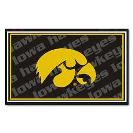 University of Iowa 4x6 Rug Plush Rugs