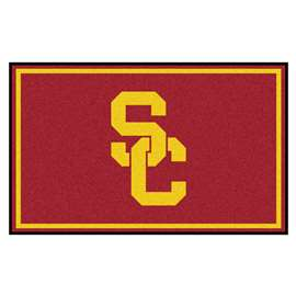 University of Southern California 4x6 Rug Plush Rugs