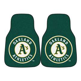 "MLB - Oakland Athletics 2-pc Carpeted Car Mats 17""x27""  2-pc Carpet Car Mat Set"