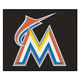 MLB - Miami Marlins Tailgater Rug 5'x6'  Tailgater Mat