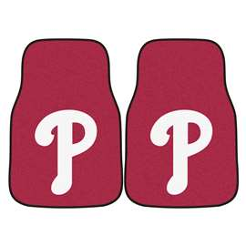 MLB - Philadelphia Phillies 2-pc Carpet Car Mat Set Front Car Mats