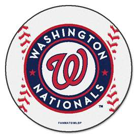 "MLB - Washington Nationals Baseball Mat 27"" diameter   Baseball Mat"