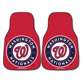 "MLB - Washington Nationals 2-pc Carpeted Car Mats 17""x27""  2-pc Carpet Car Mat Set"