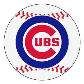 "MLB - Chicago Cubs Baseball Mat 27"" diameter   Baseball Mat"