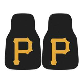 "MLB - Pittsburgh Pirates 2-pc Carpeted Car Mats 17""x27""  2-pc Carpet Car Mat Set"