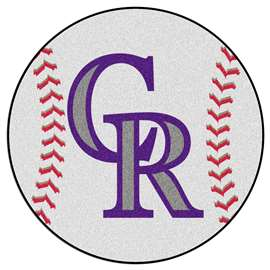 "MLB - Colorado Rockies Baseball Mat 27"" diameter   Baseball Mat"