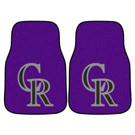 "MLB - Colorado Rockies 2-pc Carpeted Car Mats 17""x27""  2-pc Carpet Car Mat Set"