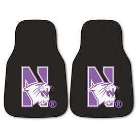 Northwestern University  2-pc Carpet Car Mat Set