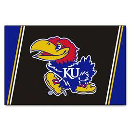 University of Kansas 5x8 Rug Plush Rugs