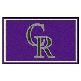 MLB - Colorado Rockies 4'x6' Rug  4x6 Rug