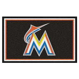 MLB - Miami Marlins 4x6 Rug Plush Rugs