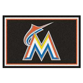 MLB - Miami Marlins 5x8 Rug Plush Rugs