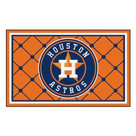 MLB - Houston Astros 4x6 Rug Plush Rugs