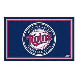 MLB - Minnesota Twins 4x6 Rug Plush Rugs