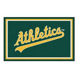MLB - Oakland Athletics 4x6 Rug Plush Rugs