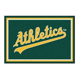 MLB - Oakland Athletics 5x8 Rug Plush Rugs