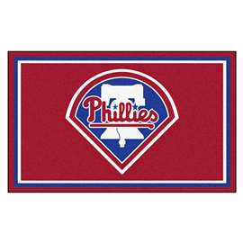 MLB - Philadelphia Phillies 4x6 Rug Plush Rugs