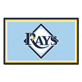 MLB - Tampa Bay Rays 4x6 Rug Plush Rugs