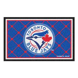 MLB - Toronto Blue Jays 4x6 Rug Plush Rugs