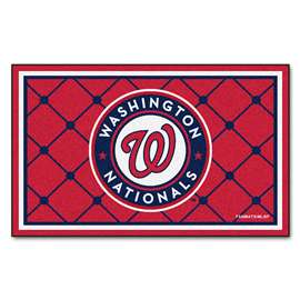 MLB - Washington Nationals 4x6 Rug Plush Rugs