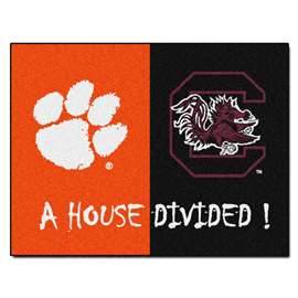 House Divided: Clemson / South Carolina  House Divided Mat Rug, Carpet, Mats