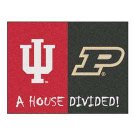 House Divided: Indiana / Purdue  House Divided Mat Rug, Carpet, Mats