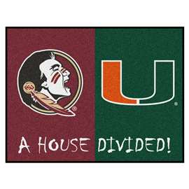 House Divided: Florida State / Miami   House Divided Mat Rug, Carpet, Mats
