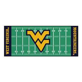 West Virginia University  Football Field Runner Mat Rug Carpet