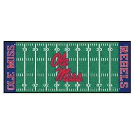 University of Mississippi (Ole Miss)  Football Field Runner Mat Rug Carpet