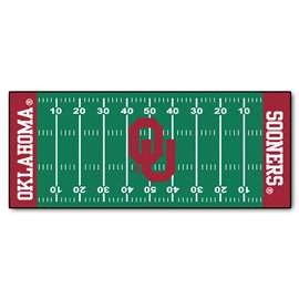 University of Oklahoma  Football Field Runner Mat Rug Carpet