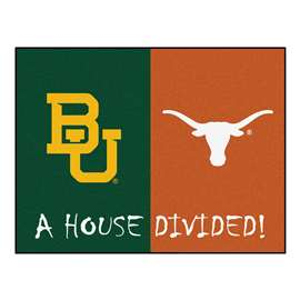House Divided: Baylor - Texas  House Divided Mat Rug, Carpet, Mats