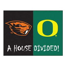 House Divided: Oregon / Oregon State  House Divided Mat Rug, Carpet, Mats