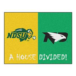 House Divided: North Dakota State / North Dakota  House Divided Mat Rug, Carpet, Mats