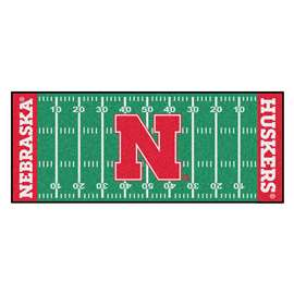 University of Nebraska  Football Field Runner Mat Rug Carpet