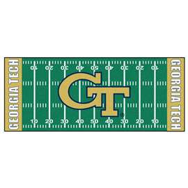 Georgia Tech  Football Field Runner Mat Rug Carpet
