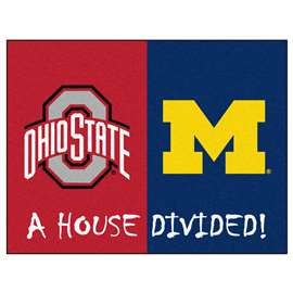 House Divided: Ohio State / Michigan  House Divided Mat Rug, Carpet, Mats