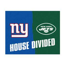 NFL House Divided - Giants / JetsFloor Rug Mats