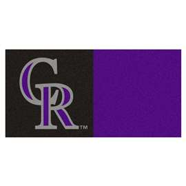"MLB - Colorado Rockies 18""x18"" Carpet Tiles  Team Carpet Tiles"