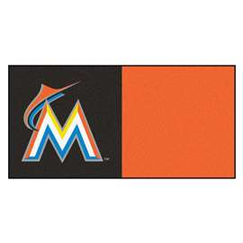 "MLB - Miami Marlins 18""x18"" Carpet Tiles  Team Carpet Tiles"