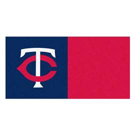 "MLB - Minnesota Twins 18""x18"" Carpet Tiles  Team Carpet Tiles"