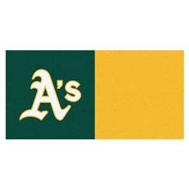 "MLB - Oakland Athletics 18""x18"" Carpet Tiles  Team Carpet Tiles"