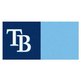 "MLB - Tampa Bay Rays 18""x18"" Carpet Tiles  Team Carpet Tiles"