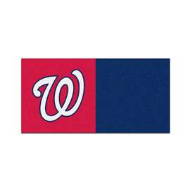 "MLB - Washington Nationals 18""x18"" Carpet Tiles  Team Carpet Tiles"