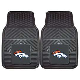 NFL - Denver Broncos 2-pc Vinyl Car Mat Set Front Car Mats