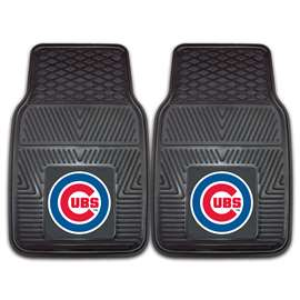 "MLB - Chicago Cubs 2-pc Vinyl Car Mats 17""x27""  2-pc Vinyl Car Mat Set"