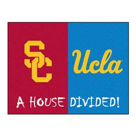 House Divided: USC / UCLA  House Divided Mat Rug, Carpet, Mats