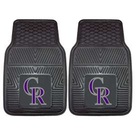 "MLB - Colorado Rockies 2-pc Vinyl Car Mats 17""x27""  2-pc Vinyl Car Mat Set"