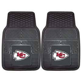NFL - Kansas City Chiefs 2-pc Vinyl Car Mat Set Front Car Mats