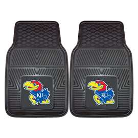 University of Kansas 2-pc Vinyl Car Mat Set Front Car Mats