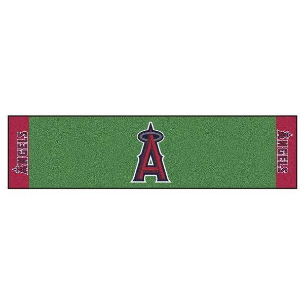 "MLB - Los Angeles Angels Putting Green Runner 18""x72""   Putting Green Mat"